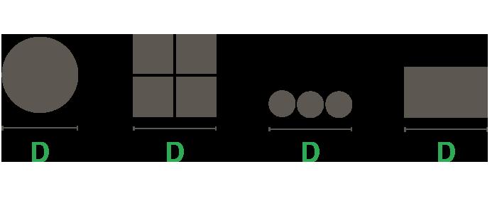 Honsberg sahanterän valintataulukko umpimateriaaleille.