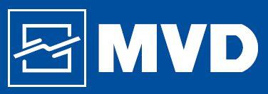 MVD levytyökonevalmistajan logo.
