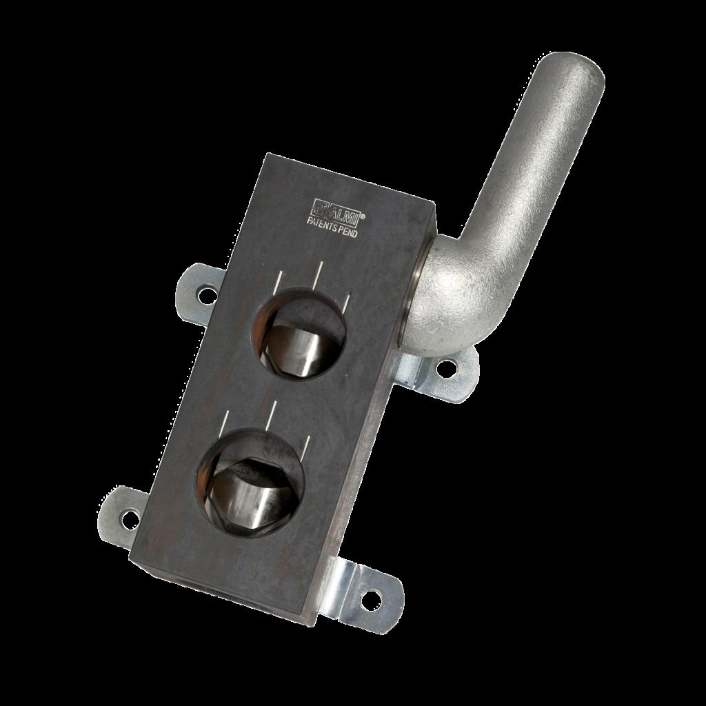 Käsikäyttöinen putken loveamiskone putkille 42.4mm ja 48.3mm.